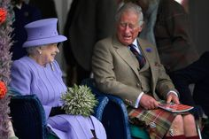 Something's funny! Queen giggles as she shares joke with kilt-wearing Charles in Scotland | Royal | News | Daily Express
