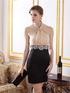 $90.19 Dresswe.com SUPPLIES Elegant Sexy Lace Halter Little Party Dress