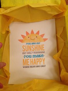 Box of sunshine print-out.