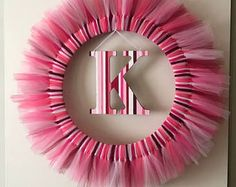 Items similar to Spring Tulle Wreath on Etsy Tulle Decorations, Tulle Wreath, Wreaths, Spring, Etsy, Beautiful, Home Decor, Homemade Home Decor, Door Wreaths