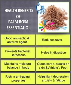 Health Benefits Of Palm Rosa Essential Oil