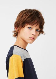 Camiseta algodón rayas - Niños | MANGO Kids España