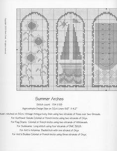 Schema punto croce Summer Arches 03