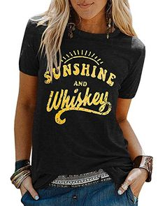YEXIPO Womens Bring On The Sunshine T-Shirt Graphic Tees Letter Printed Loose Casual Summer Funny Tops