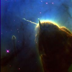 part of the Trifid Nebula, The Unicorn, from Hubble telescope Cosmos, The Final Frontier, Space Photos, Natural Phenomena, To Infinity And Beyond, Space Exploration, Out Of This World, Milky Way, Outer Space