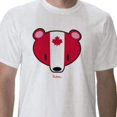 Canadian kuma t shirt from http://www.zazzle.com/canada+tshirts