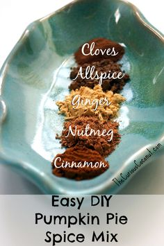 This is a simple, quick recipe for making a DIY pumpkin pie spice mix that  you can use in all sorts of recipes. Plus, some interesting tidbits from  the scientific literature regarding the health benefits of consuming all of  the spices in the mix. Check it out!