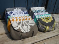 vintage doily clutch bags by 3rdlife