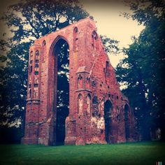 Eldena Abbey Ruins, Greifswald, Germany. Greifswald was a centre of the salt trade and very prosperous in the 1200s.