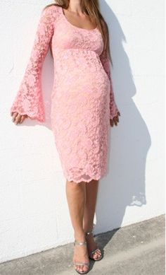 """Stephy Dress in Pink,"" for your Baby Girl Shower! Find @ ModMomMaternity.com"