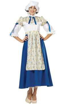 Lady Colonial Adult Costume for Halloween - Pure Costumes