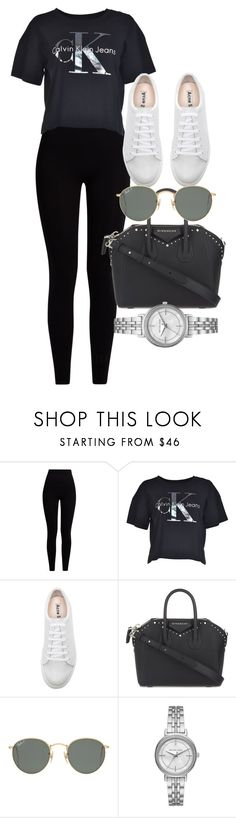 """""""Untitled #5110"""" by olivia-mr ❤ liked on Polyvore featuring Pepper & Mayne, Calvin Klein, Acne Studios, Givenchy, Ray-Ban and Michael Kors"""