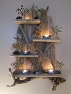 Magical Unique Driftwood Shelf Solid Rustic Shabby Chic Sea Artwork – My World Shabby Chic Rustique, Rustic Shabby Chic, Shabby Chic Kitchen, Rustic Style, Farmhouse Style, Farmhouse Ideas, Rustic Decor, Shabby Chic Bedrooms, Shabby Chic Homes