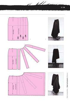 Dart Manipulation Technique: Slash and Spread Skirt Patterns Sewing, Clothing Patterns, Coat Patterns, Blouse Patterns, Fashion Sewing, Diy Fashion, Fashion Ideas, Fashion Outfits, Fashion Tips
