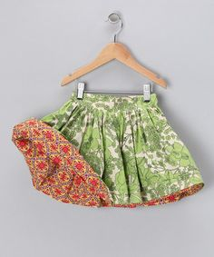 Child's commercial-made, reversible, pleated skirt from Right Bank Babies, via zulily.com.