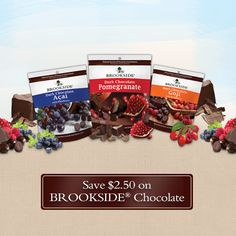 Check out this great offer to save 2.50 dollars on BROOKSIDE Chocolate.