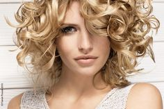 Image detail for -Medium curly blond hairstyle by Franck Provost © Franck Provost