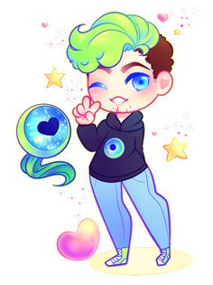 bitterspace: i always watch alot of jce when im sick or feeling down bc he feels much more like a friend then some big internet celebrity and tbh that means alot!! so here is a quick chibi i did of him last night in hopes that someone knows i appreciate it thank!!!!! therealjacksepticeye: Aw this is cute :D thank you!