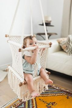 These high quality Adelisa & Co. macrame baby hammock swings are handmade in Masaya, Nicaragua.