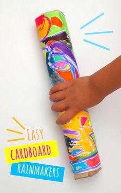 easiest cardboard rainmakers ever- great preschool craft!