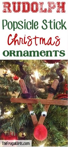 Popsicle Sticks aren't just for summer treats… Rudolph loves them, too! Check out these fun Popsicle Stick Ornaments for your Christmas Tree!   See Also:  The post Popsicle Stick Ornaments appeared fi
