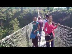 Suspension Bridge of nepal at Max. Height - Kushma-Gyadi Bridge - YouTube