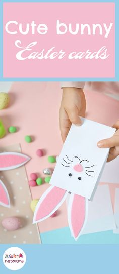 From fluffy pom pom chicks to decorated Easter eggs, these 15 easy Easter crafts for kids will keep little hands busy for hours. This card is so simple, but looks super cute.