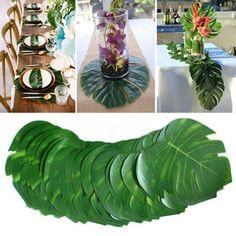 Green Hula Leaf Skirt 4 Pc Lei Set Pineapple Glasses Hawaiian Beach Party Lot