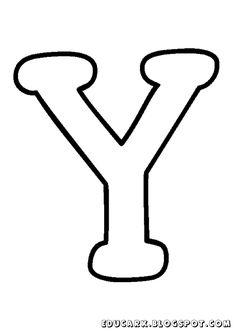 Molde da letra maiúscula Y