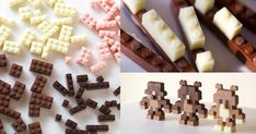 Edible yet functional chocolate Lego. Oh how I wish you could buy this!