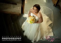 Our beautiful bride Lauren holds a bouquet of fresh flowers with glamourous rhinestone details. The perfect bouquet for a #summerwedding Elizabeth Wray Design-Geneva,IL Alex Claney Photography  Church: Baker Memorial Methodist Church in St.Charles,IL