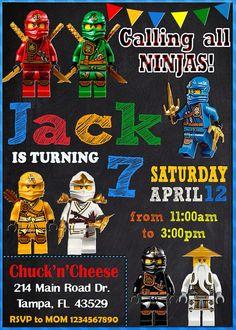 LEGO Ninjago invitación / partido de Ninjago / Lego Ninjago /