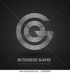 Letter GO or OG linked logo design circle G shape. Elegant silver colored letter symbol. Vector logo design template elements for company identity. - stock vector