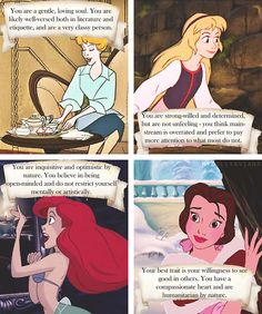 what your princess says about you