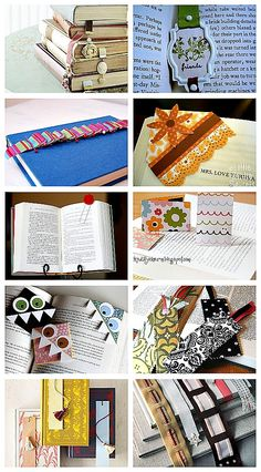 DIY Bookmark Ideas: I love the one that's eating the page. I just made one and it is so cute. This is definately going to be someone's X-Mas gift.