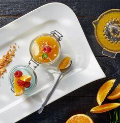 Deser Barcelona - mus cytrynowy z galaretką pomarańczową. Kuchnia Lidla - Lidl Polska. #lidl #Paweł #cytryny #pomarańcze