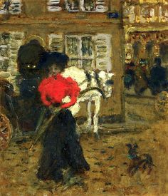 On the Street, Woman with an Umbrella  Pierre Bonnard - 1894