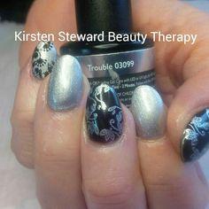 Silver black Artistic Colour Gloss nail art stamping