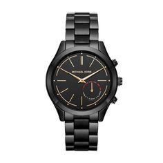 a1c7a4c6853f Michael Kors Access Hybrid Black Slim Runway Smartwatch MKT4003   gt  gt  gt  You