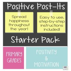Welcome to I Heart Grade 3!These newly updated Positive Post-Its make it super easy to praise your students each and every day!This product contains: 47 black & white positive post-it notes  each on its own page for easier printing full set of instructions coloured photo examples of how to make your post-it notesShould you have any questions or comments about this product, feel free to email me at missmonica@iheartgrade3.comHave a great day!Post Its, Positive Reinforcement, Classroom Mana...