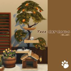 """Tree Cat Condo 🌲💡 need Cats and Dogs 💡 New mesh 💡 category : Pet goods ————————————————– 📌T.U recolor OK but,don't include the mesh.Link back to this post please . don't re-upload or. Sims 4 Mm Cc, Sims Four, Sims 4 Mods Clothes, Sims 4 Clothing, Sims 4 Pets, Muebles Sims 4 Cc, The Sims 4 Packs, Sims House Design, Casas The Sims 4"