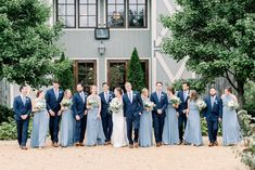 blue wedding How To Select The Right Blue Suits Based On Bridesmaids Dresses Steel Blue Bridesmaid Dresses, Pastel Bridesmaid Dresses, Wedding Dresses, Wedding Flowers, Wedding Bouquets, Steel Blue Weddings, Dusty Blue Weddings, Light Blue Weddings, Real Weddings