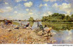 Boldini Giovanni - 1874 'The Laundry'  GIOVANNI BOLDINI (Ferrara, 31 dicembre 1842 – Parigi, 11 gennaio 1931   #TuscanyAgriturismoGiratola