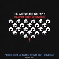 There is an abundance of homes available for homeless people.