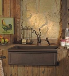 Herbeau Farmhouse Kitchen Sinks - traditional - kitchen sinks - houston - by Westheimer Plumbing & Hardware Copper Farm Sink, Copper Farmhouse Sinks, Farmhouse Sink Kitchen, Copper Kitchen, Kitchen And Bath, Copper Sinks, Farmhouse Office, Kitchen Redo, Farmhouse Style