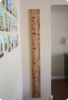 DIY Growth Chart, so cute.