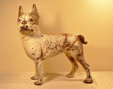 Antique Boston Terrier Cast Iron door stop by TwentiethCenturyFind, $210.00