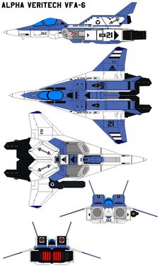 Alpha Veritech VFA-6 by bagera3005. A paint scheme similar to ace pilot Maximillian Sterling. Nearly perfect for my crazy A/E-wing flying!