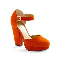 Pierre Dumas Orange Velvet P L A T F O R M S