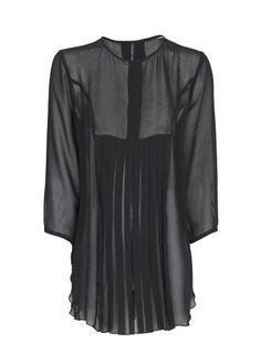 MANGO - Plissierte, transparente Bluse